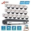 ANRAN 720P HD 16CH AHD DVR Kits 30 IR Day Night Waterproof Dome In Outdoor 1800N