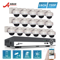 ANRAN 720P HD 16CH AHD DVR Kits 30 IR Day Night Waterproof Dome In Outdoor 1800N