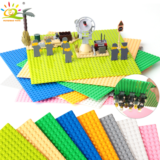 8 Color 32*32 Dots Base Plate for Small Bricks Baseplate Board Compatible figure DIY Building Blocks Toys For Children