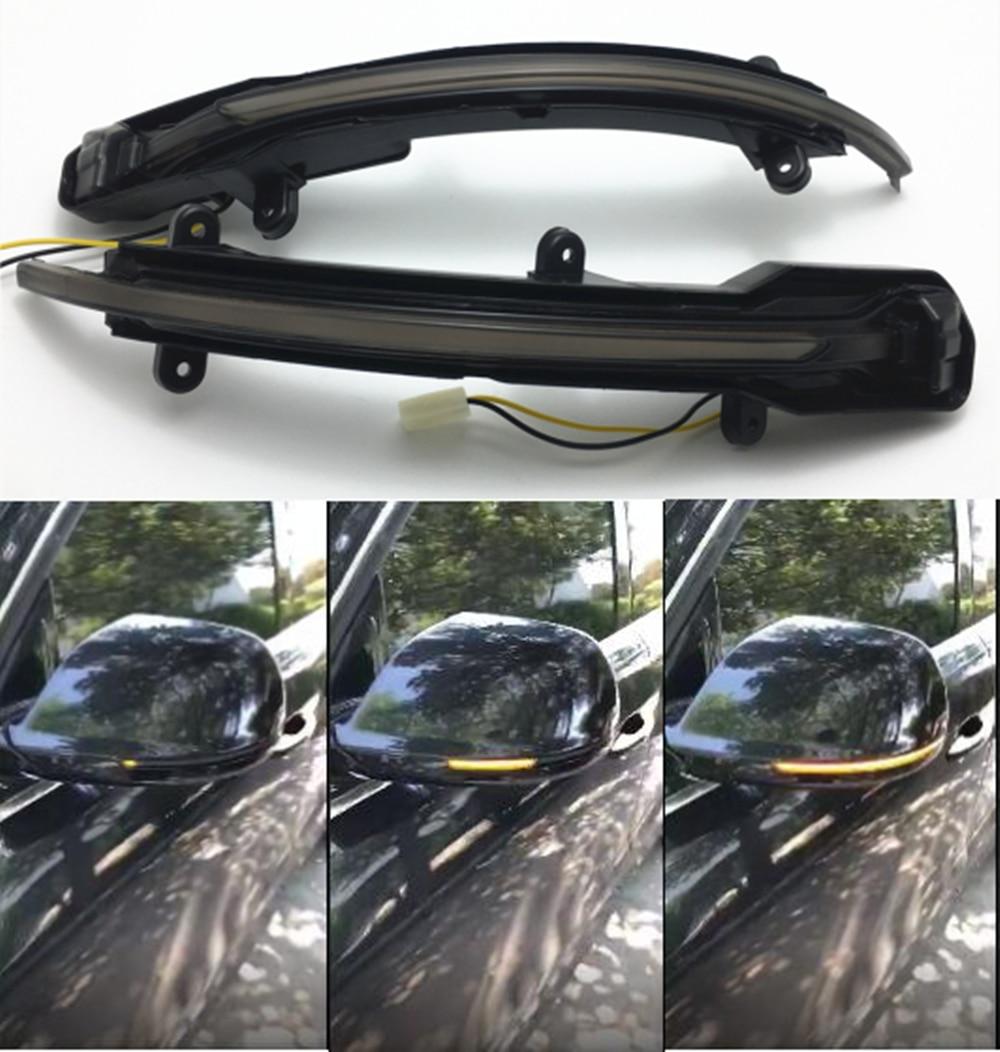 LED Light Dynamic Mirror Blinker Indicator For Audi Q5 SQ5 8R 2010-2017 Q7 Facelift 2010-2015 Side Wing Trim chromesupply mazda 2 demio chrome side mirror cover with led side blinker trim