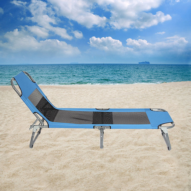 YONTREE 1 PC Soleil Transat Pliable Plage Lit Inclinable Chaise ...