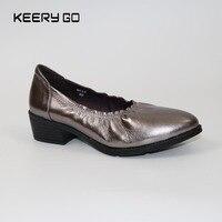 Fabrik direktvertrieb von leder schuhe und leder frauen Schuhe schuhe mit hohen absätzen 35-40