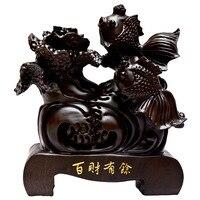 Shengwei craft Afrikaanse ebbenhout koning honderd fiscale overschot hout ornamenten 30 CM upscale gift collecties