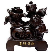 Shengwei craft African ebony king one hundred fiscal surplus wood ornaments 30CM upscale gift collections