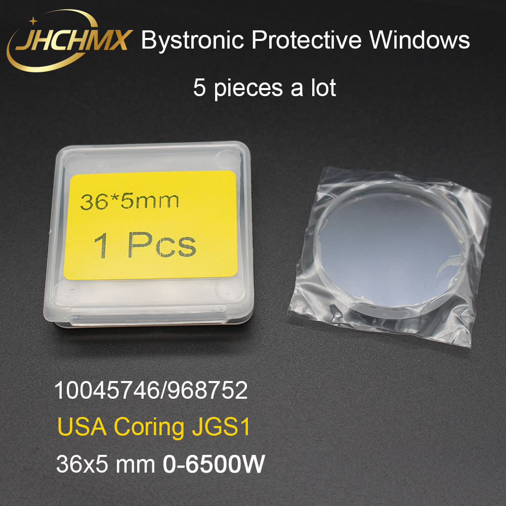 JHCHMX USA JGS1 Quartz Fiber Laser Protective Windows 36 5mm 0 6500W 10045746 for Bystronic Nukon