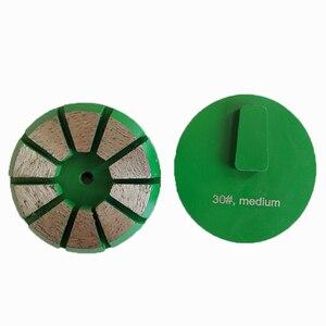 Алмазный шлифовальный диск GD19 Redi с блокировкой, 3-дюймовые верхние острые шлифовальные колодки с десятью сегментами для мозаичный бетон для...