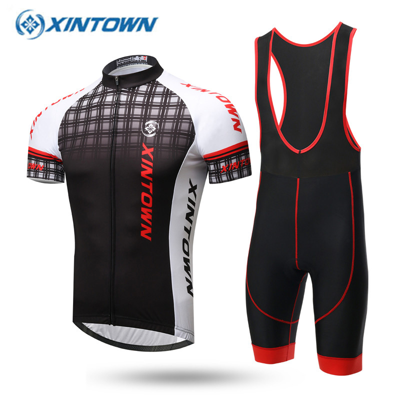XINTOWN Summer Breathable Cycling Clothing Quick-Dry Racing Bicycle Jerseys Ropa Ciclismo Lycra GEL Pad Mountain Bike Jersey breathable quick dry bike ropa ciclismo skintight short sleeve cycling jersey clothes gel pad bicycle cycling clothing