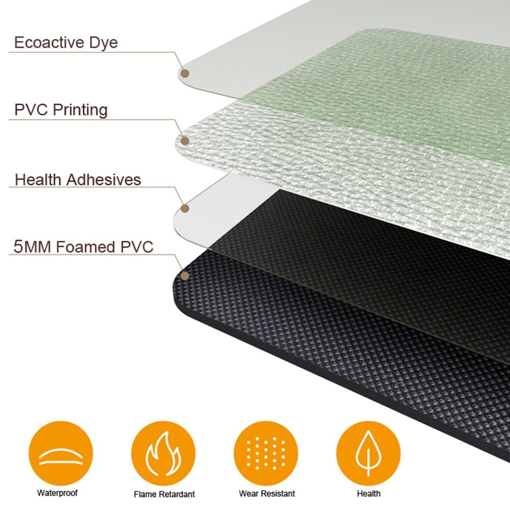 Image 2 - African Pattern Print Home Mat Waterproof Kitchen Carpet  Non slip Bath Mats Bed Front Mats  Floor Mat kitchen Rug-in Mat from Home & Garden