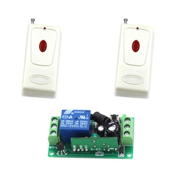 DC 9V 12V 24V Wireless Remote Control Switch System Transmitter 10A Receiver RF Remote Control Switch for Gate LED Light 12v 6ch rf wireless remote control switch system transmitter