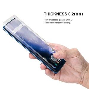 Image 4 - Protezione dello schermo con lettore di impronte digitali di sblocco per Oneplus 7 Pro 7T ProUV pellicola di Vetro della copertura completa per Oneplus 8 Pro vetro temperato