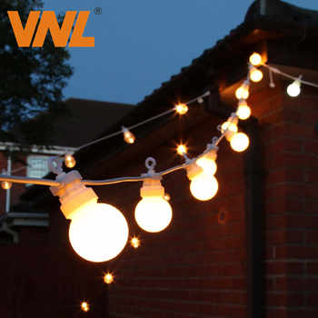 VNL IP65 G50 White Cable Milky Ball String lights Indoor Outdoor Light String For Bar Wedding Christmas Garland Party Decorative - DISCOUNT ITEM  55% OFF All Category