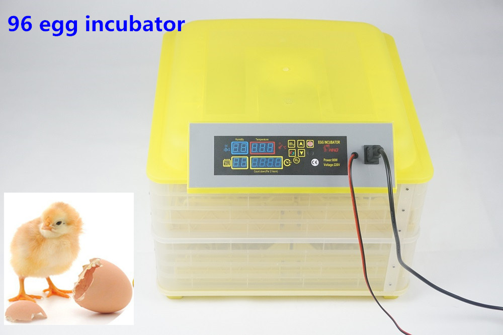 Cheap  China  220V Poultry Hatchery Machine 96 Digital Temperature Full Automatic Egg Incubator for Chicken Duck Quail Parrot hot sale poultry hatchery machine 96 eggs digital temperature full automatic egg incubator for chicken duck quail parrot