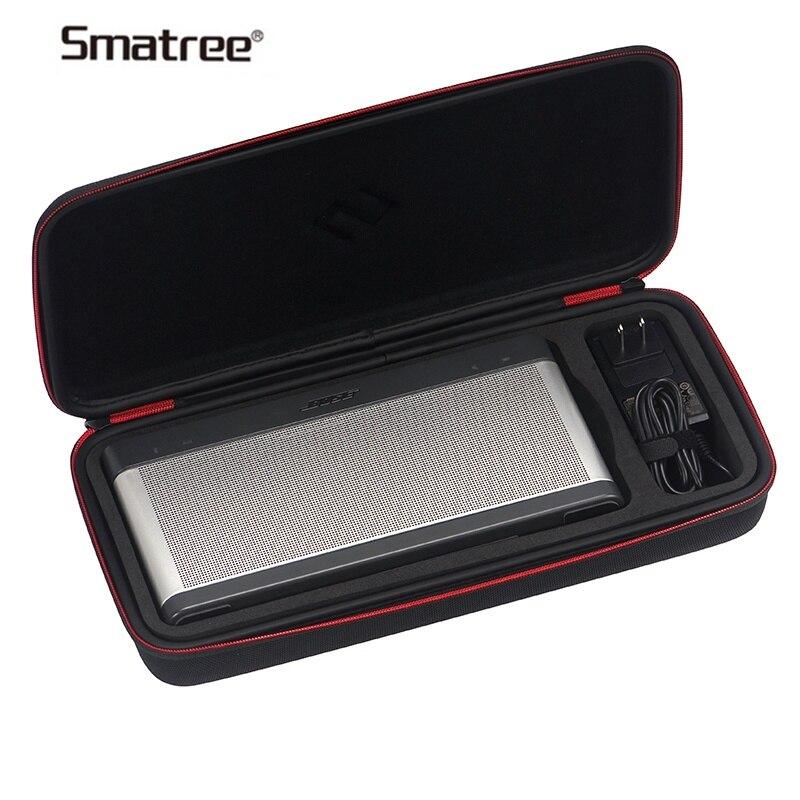 Smatree Speaker Box Portable Traveling Bag Carrying Case Bluetooth Speaker Bags ForBose SoundLink III Shockproof With Carabiner