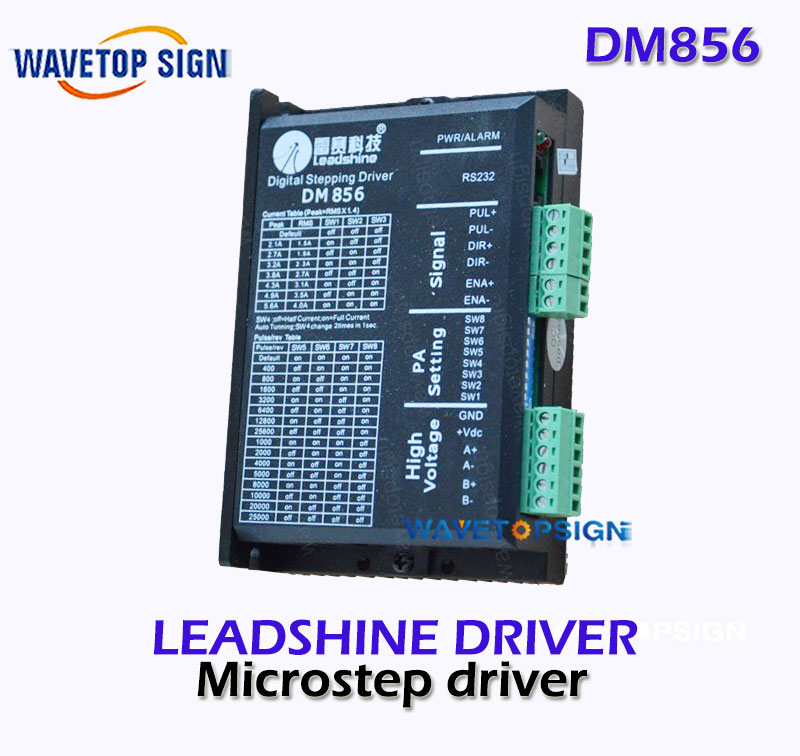 Leadshine   Driver DM856  2-phase stepper Driver For cnc Router  Laser engraving Machine 2-phase Step leadshine 3 phase stepper motor 863s68h 3phase step motor laser engraver machine cnc router