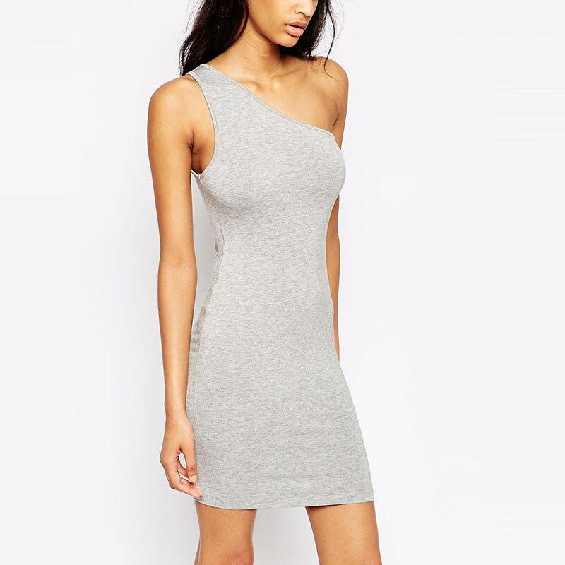 Slash Collar Dress