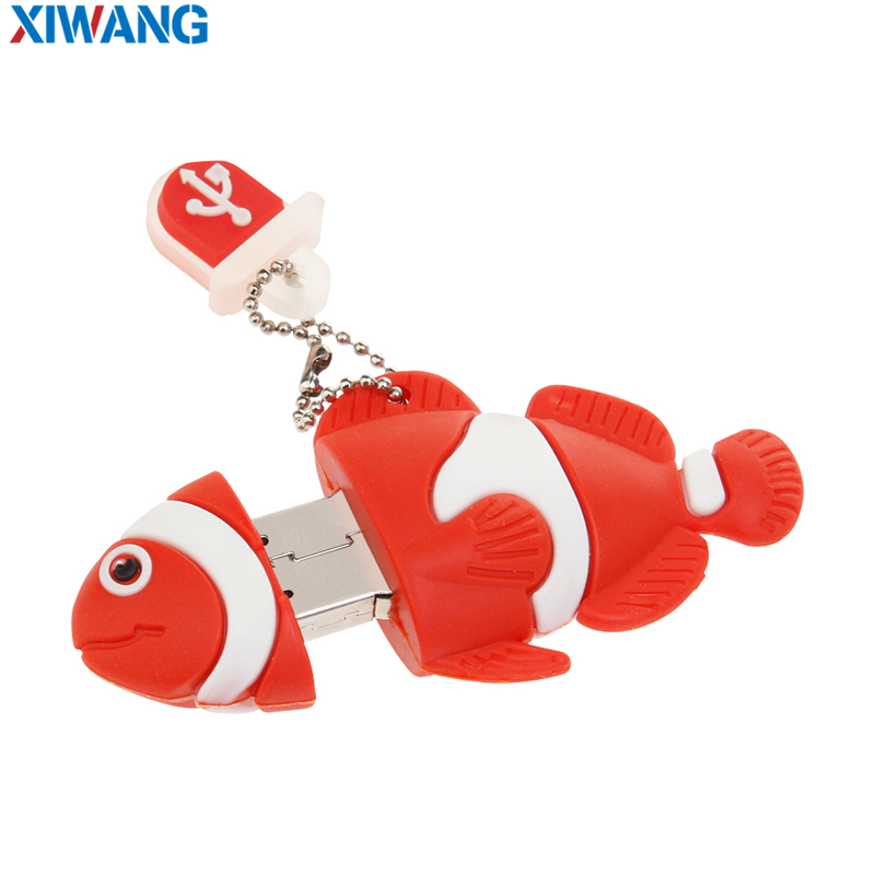 Image 4 - Cartoon nemo fish pen drive 8GB 16GB pendrive usb flash drive 128GB 64GB 32GB waterproof flash memory memory stick free shipping-in USB Flash Drives from Computer & Office