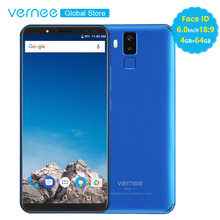 Orijinal Vernee X 5.99 inç 18:9 Ekran Yüz KIMLIĞI 4 GB RAM 64 GB MobilePhone MT6763 Octa Çekirdek 6200 mAh android7.1 OTG 16MP 4...