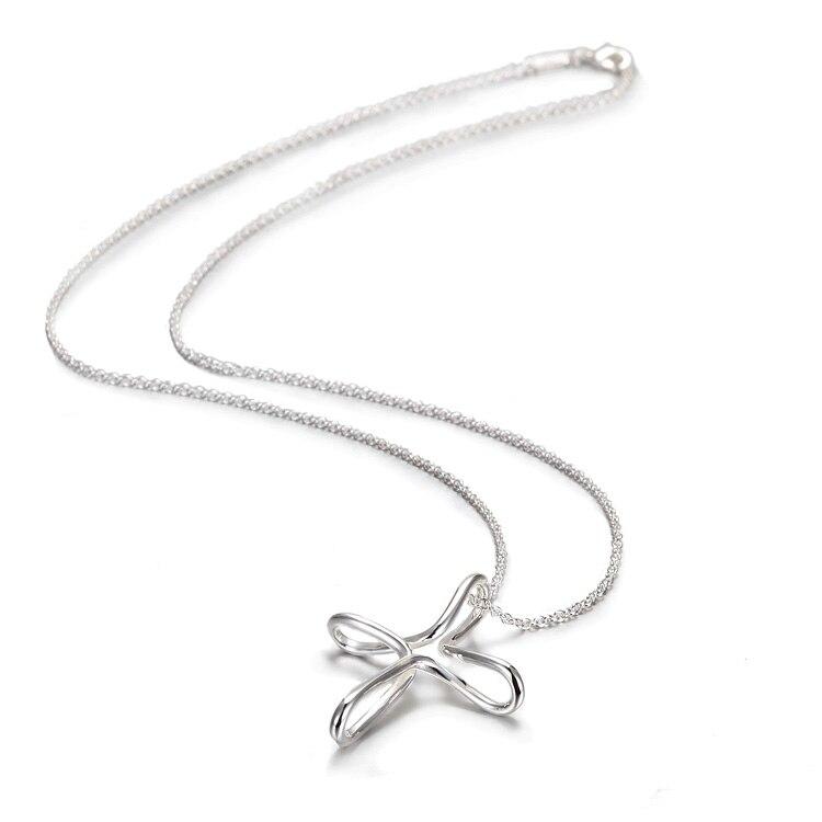 Designer 925 Sterling Silver Cross Pendant Necklac...