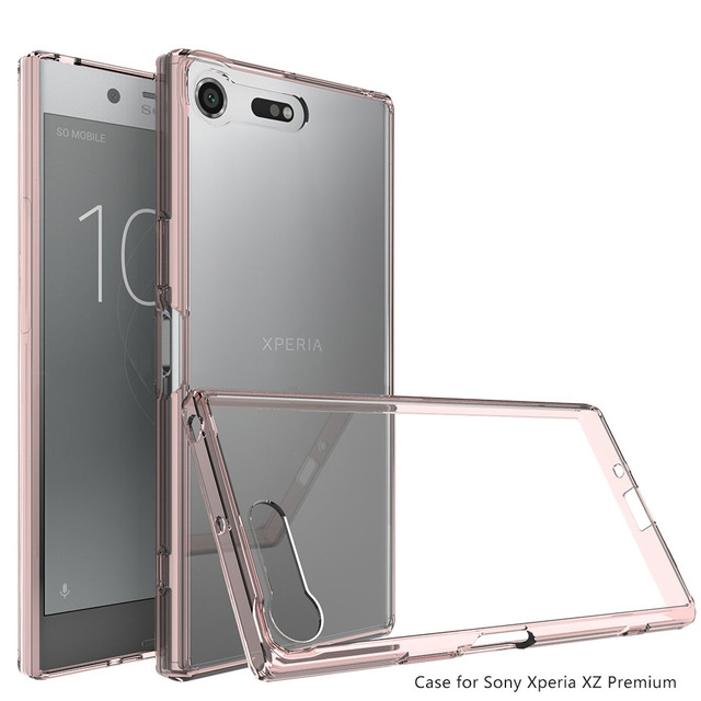 super popular 82736 c6a9f US $2.54 15% OFF|Transparent Clear Hard Acrylic Back Case For Sony Xperia  XZ Premium Shockproof Cover For Sony Xperia XZ Premium/XZP G8142 E5563@-in  ...