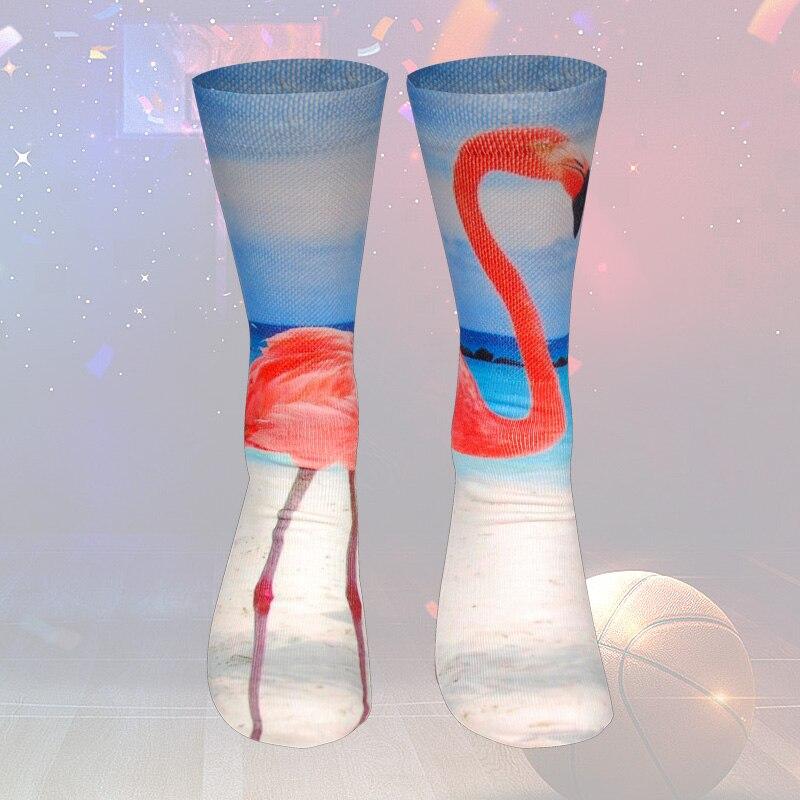 3d Printing Sporty Compression Socks For Men Fish Cat Flamingo Candy Hamburger Printed Thickened Towel Bottom Novelty Sock Underwear & Sleepwears