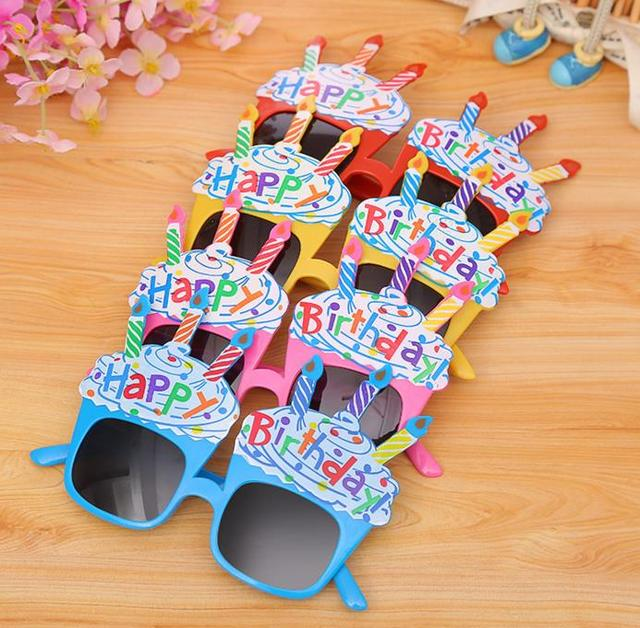 9e3741e491d85f Glücklich Geburtstag gläser spaß party-kerzen ballon gläser Feier Kinder  Sonnenbrille Parteikostüm Kostüm Verkleiden prop