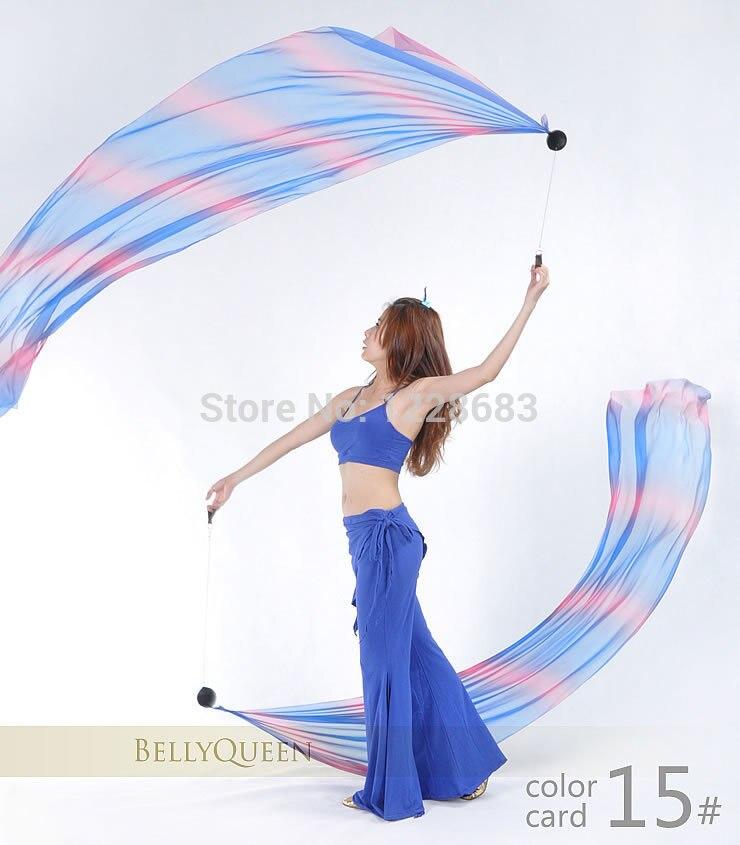 Sexy Indian Belly Dance Costume Women Accessories Gradient Veil Poi Chain Bellydance Wear 1 Veils + 1 Poi