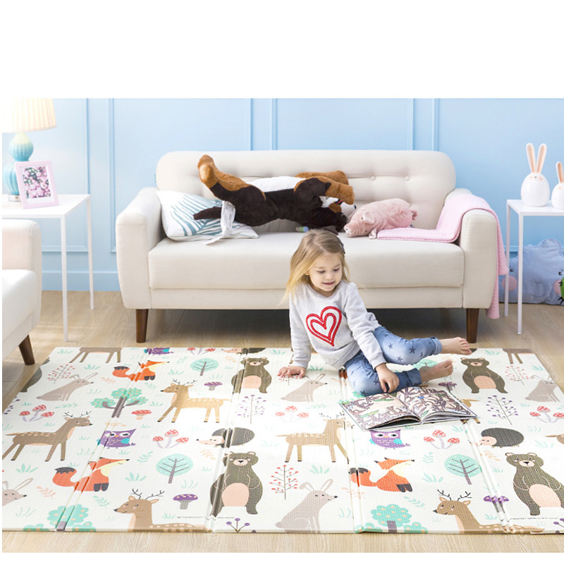 Tapis de jeu bébé XPE Puzzle tapis pour enfants épaissi tapete Infante bébé chambre ramper Pad tapis pliant tapis bébé