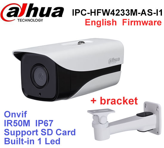 Dahua IPC-HFW4233M-AS-I1 2MP IP camera built-in TF Card slot Audio Alarm 1/1 channel In/Out interface IP67 IR50M Stellar camera цены онлайн