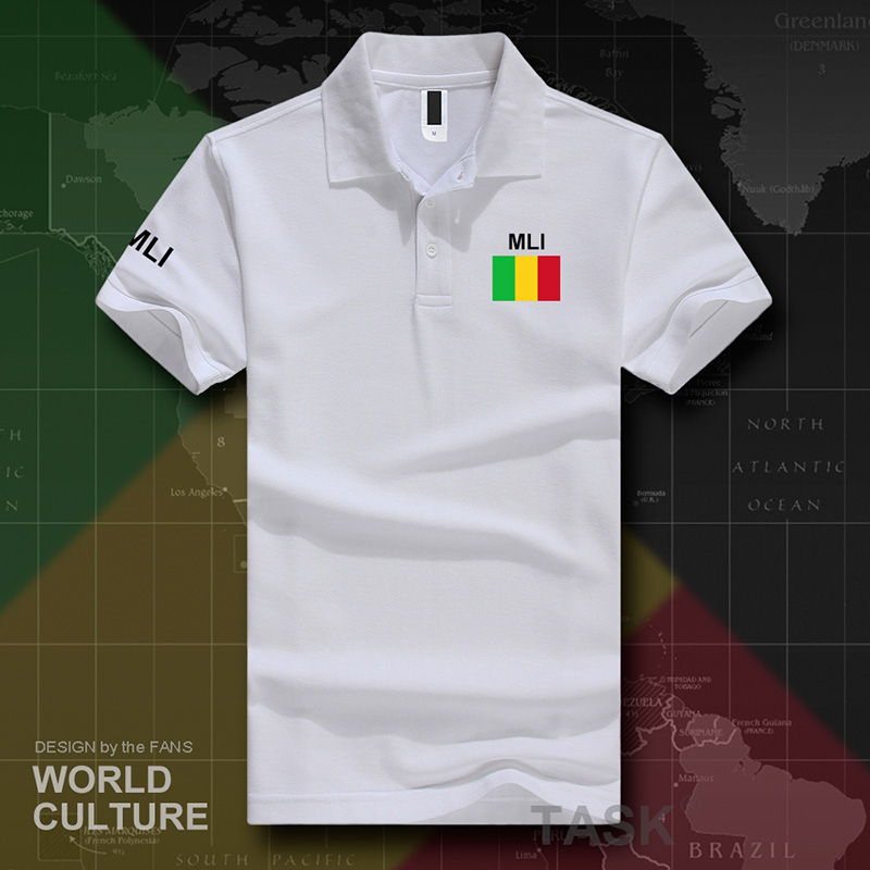 Republic of Mali   polo   shirts men short sleeve white brands printed for country 2017 cotton nation team flag new MLI Malian ML