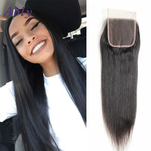 Ably Brazillian Straight Hair Lace Closure Straight 3 Part Middle Part With Baby Hair Cheap Brazilian Closures Straight 1 pc