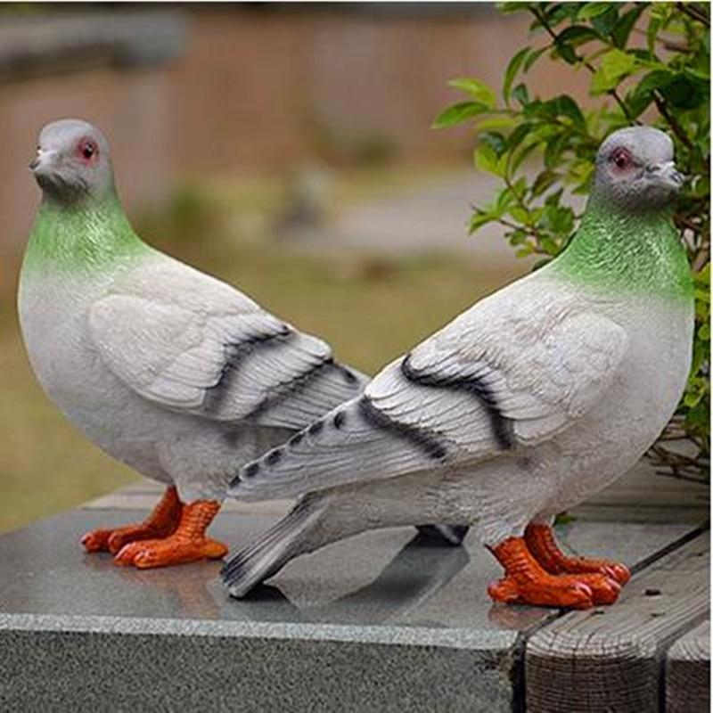Oriģinālie mājas rotājumi sveķu putnu mājas amatniecība Kāzu - Mājas dekors - Foto 4