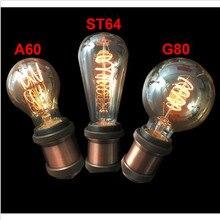 Vintage led edison filament bulb golden A60 ST64 T45G80 G95 Edon bulb led vintage type soft LED filament 4W dimmable E27 Amberis