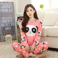 New 2017 spring autumn long sleeved pajamas set for women modal thin silk pajamas Home Furnishing clothing 90S girl sleepwear