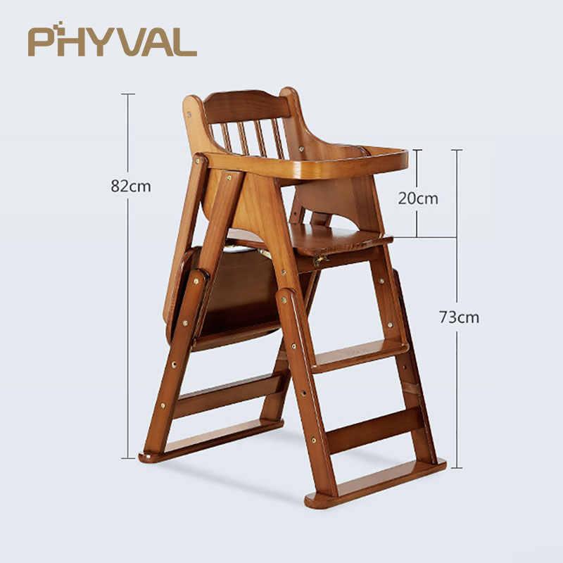 Детские стулья для кормления, безопасные переносные настольные стулья, высокий стул для детей, деревянный регулируемый обеденный стул