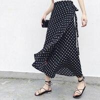 25 цветов 2019 богемная Высокая талия цветочный принт летние юбки женские s Boho Асимметричная шифоновая юбка макси длинные юбки для женщин