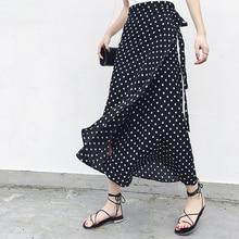 a0945b5e9a 25 colores 2019 bohemio cintura alta Floral impresión faldas de verano Boho  asimétrico falda de gasa Maxi faldas largas para las.