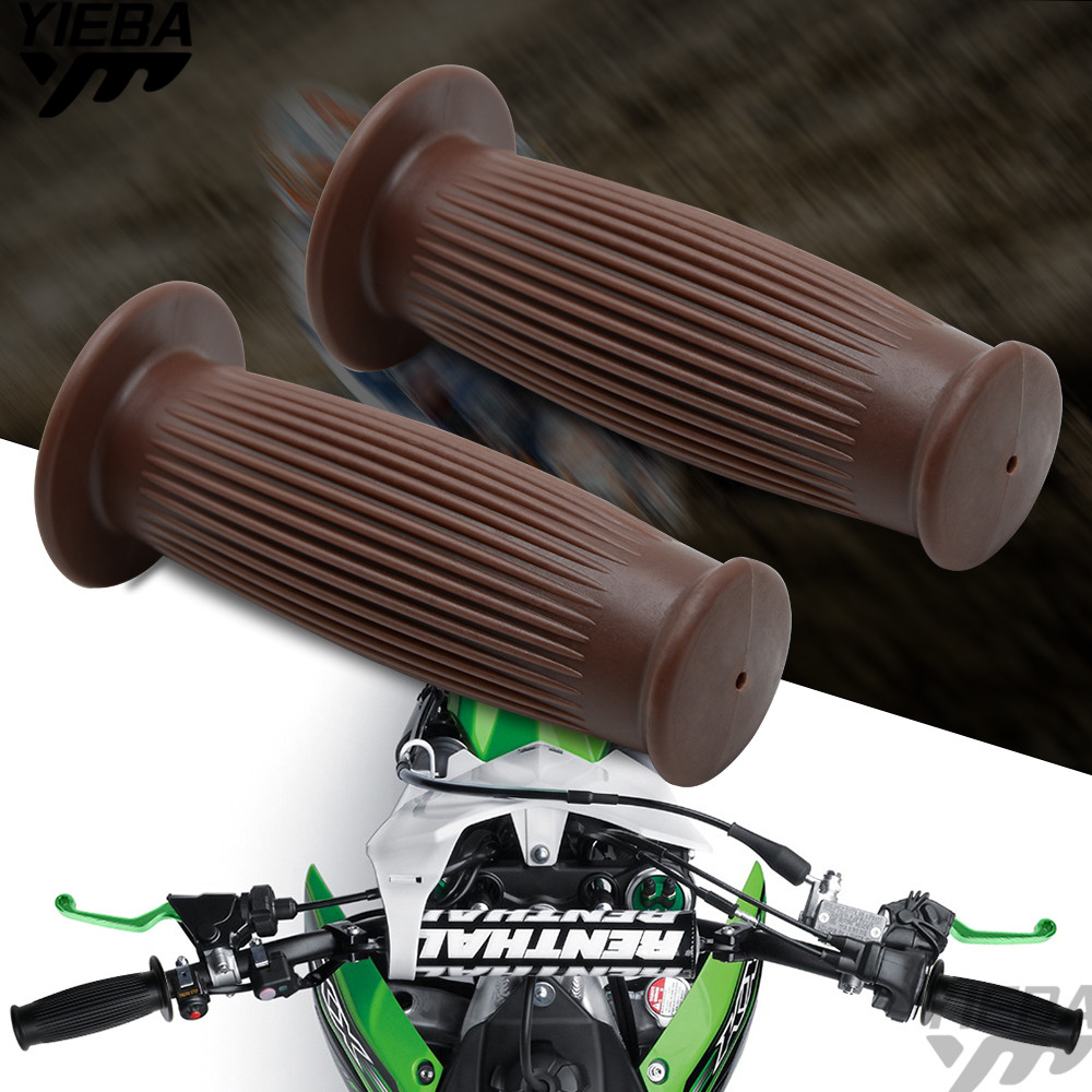 Vintage Motorcycle Grip 22-24mm Handlebar Hand Grip Bar For Honda CB 599 919 400 CB600 HORNET CBR 600 F2 F4i 900RR 250 400 VTR