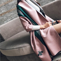 2016 Fashion Brand Designer Cashmere  Pink Scarf Winter Women Shawl Pashmina Cape Blanket Plaid Foulard Wholesale b107