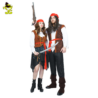 Adult Scary Pirates Of Caribbean Costume Halloween Pirate Man And Woman Party Fancy Dress Costumes