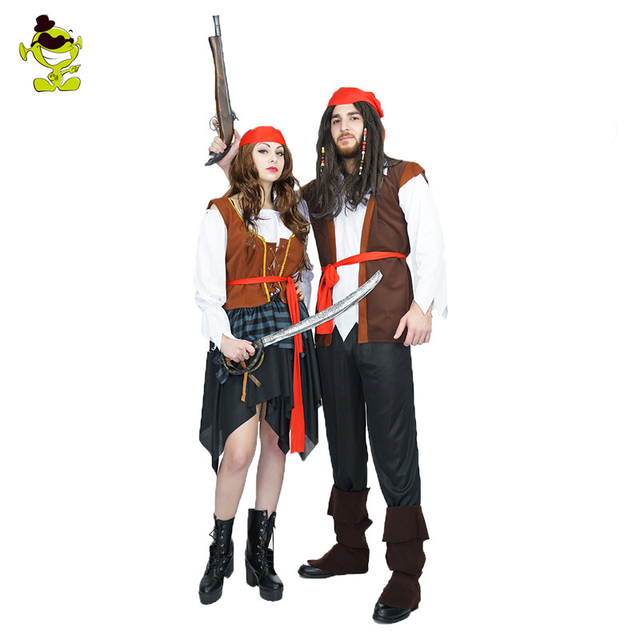 Enge Kostuums Halloween.Us 24 64 15 Off Volwassen Enge Pirates Caribbean Kostuum Halloween Pirate Man En Vrouw Party Kostuums In Volwassen Enge Pirates Caribbean Kostuum