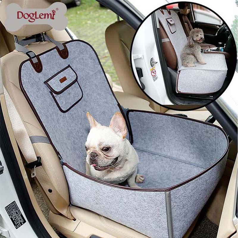 Pet Dog Front Seat Cover Protector For Cars 2 In 1 Carrier For Dogs Folding Cat Car Booster Seat Cover Anti-slip Pet Car Carrier