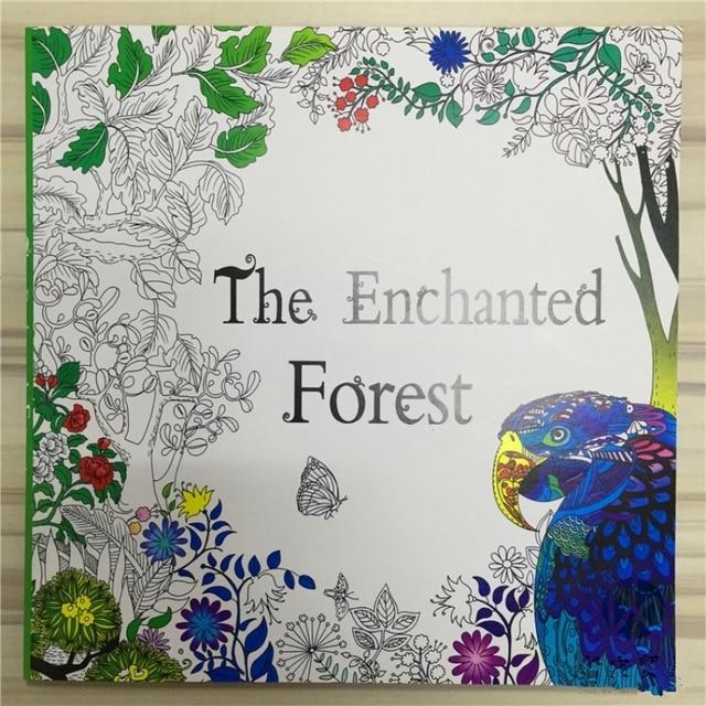 A Floresta Encantada Livros Livro Para Colorir Criancas Adultas Mandala Jardim Secreto Antistress Arte Tranquilo