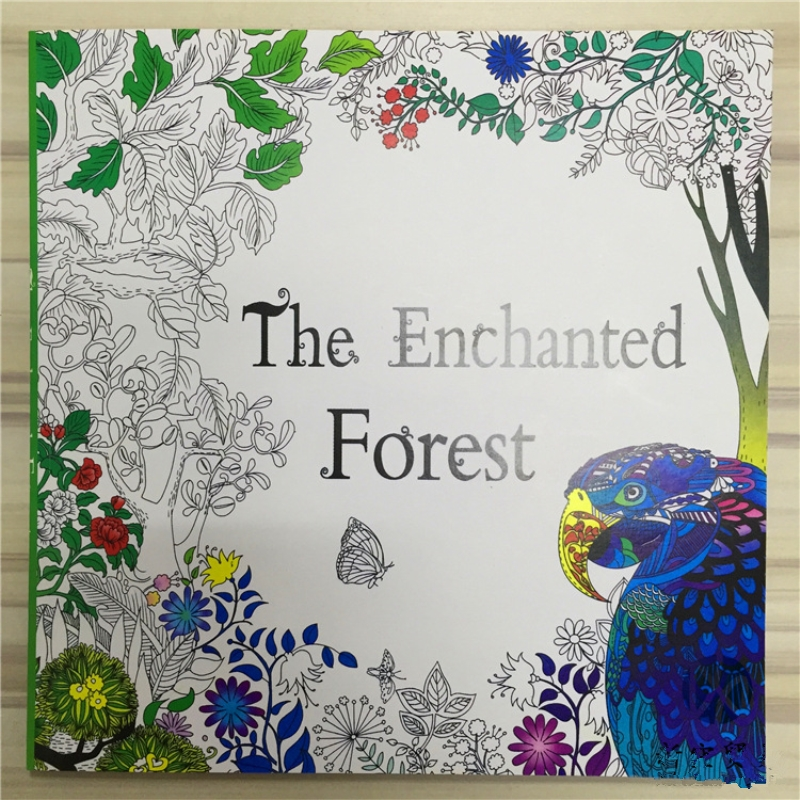 The Enchanted Forest Coloring Book For Adult Kids Mandala Secret Garden Books Antistress Art Quiet Color Drawing 2525cm 48Pages In From Office