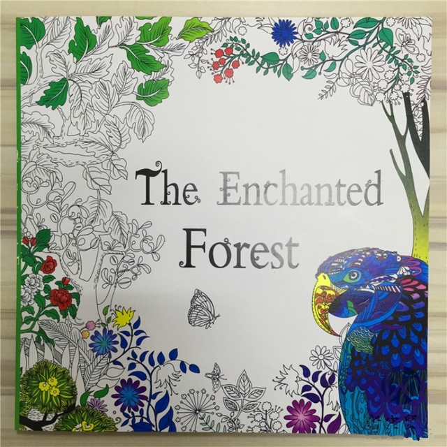 The Enchanted Forest Coloring Book For Adult Kids Mandala Secret Garden Books Antistress Art Quiet Color