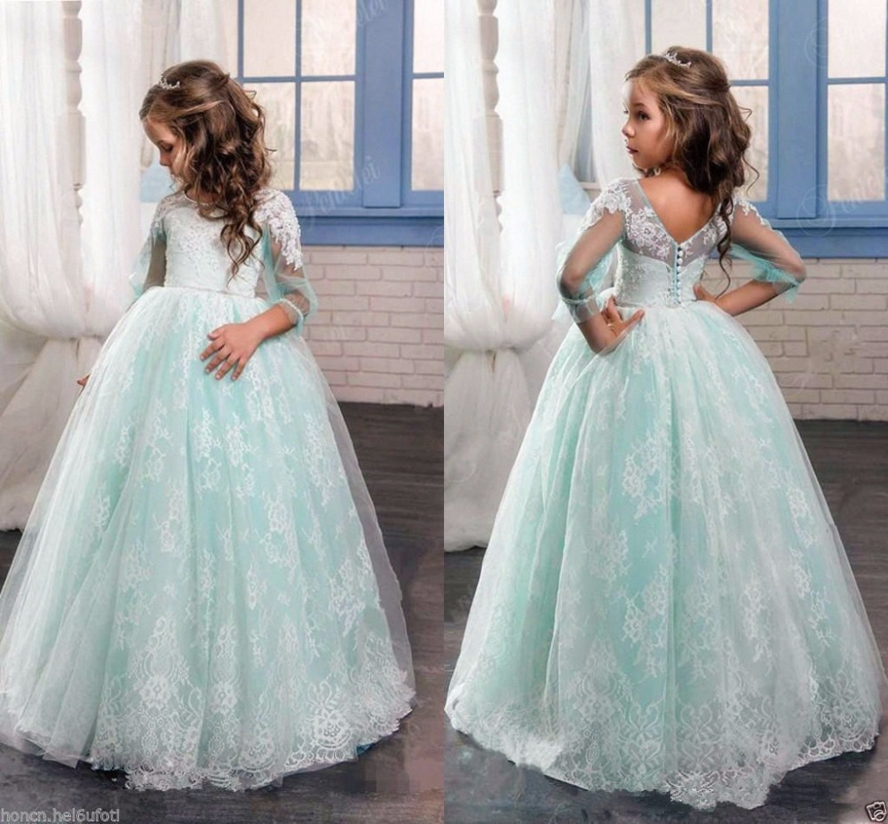 NEW Communion Flower Girl Dress Party Prom Princess Pageant Bridesmaid Wedding girl communion party prom princess pageant bridesmaid wedding flower girl dress new dress