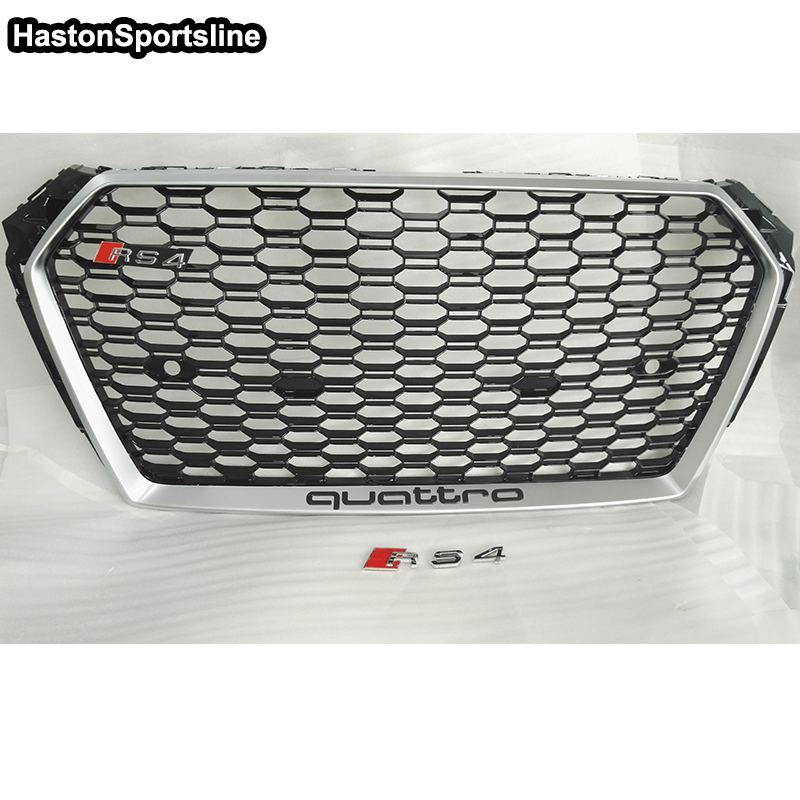 A4 B9 S Line Quattro Not Logo Style Front Bumper Engine Grill Grids for Audi A4 B9 Sline 2016UP sport bumper Sline точило stanley stgb3715 b9