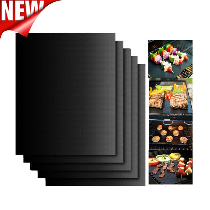 5PCS Non-Stick BBQ Magic Grill Mat Perfect for Baking on Gas Heat Resistant Home party DIY Barbecue baking food coaster mat pads