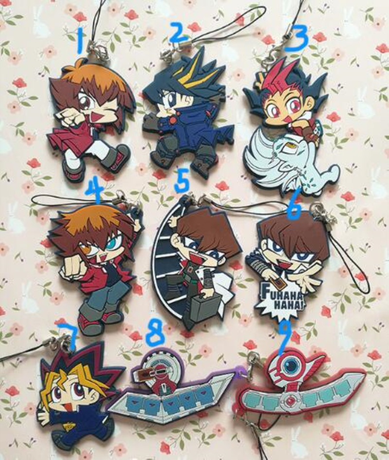 Yu-Gi-Oh DM GX 5D/'S ZEXAL A-RCV Yami Yugi Kaiba Seto Keyring Keychain 2-side Be