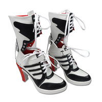 2016 NEW Suicide Squad Harley Quinn Boots Dreamy House Womens Cosplay Shoes