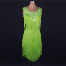 2016  Hot Sale  Latin dance costume spandex tassel stones latin dance dress for women latin dance competition dresses 2XS-6XL